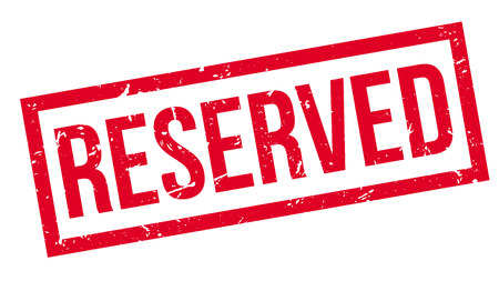 retain: Reserved rubber stamp on white. Print, impress, overprint.