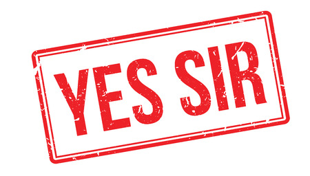 allowed to pass: Yes sir rubber stamp on white. Print, impress, overprint.