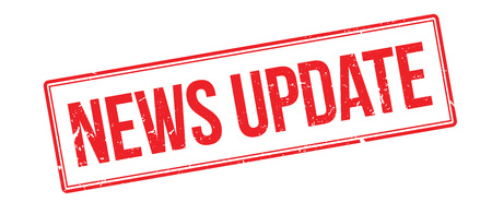 news update: News update rubber stamp on white. Print, impress, overprint.