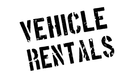 rentals: Vehicle rentals rubber stamp on white. Print, impress, overprint.