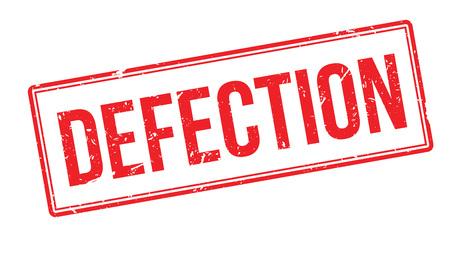 Defection rubber stamp on white. Print, impress, overprint.