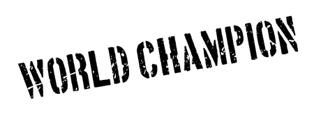 finalist: World champion rubber stamp on white. Print, impress, overprint. Illustration