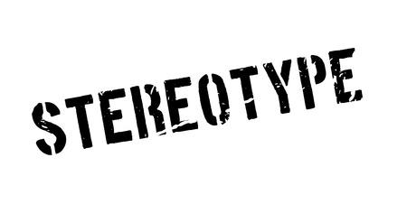 estereotipo: sello de goma estereotipo en blanco. Imprimir, impresionar, sobreimpresión. Vectores