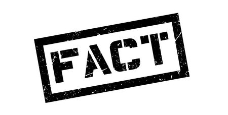 fact: Fact rubber stamp on white. Print, impress, overprint.