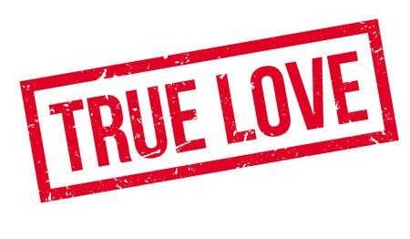 true: True love rubber stamp on white. Print, impress, overprint.