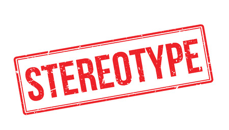 stereotype: Stereotype rubber stamp on white. Print, impress, overprint.