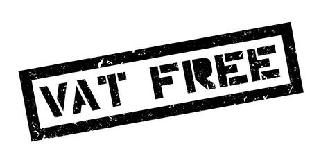 vat: Vat free rubber stamp on white. Print, impress, overprint.