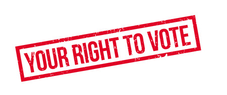 right to vote: Your right to vote rubber stamp on white. Print, impress, overprint.