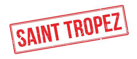 tropez: Saint tropez rubber stamp on white. Print, impress, overprint. Illustration