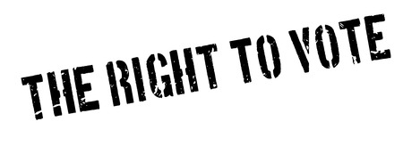 free vote: The right to vote rubber stamp on white. Print, impress, overprint.