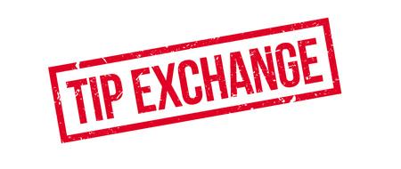 eduction: Tip exchange rubber stamp on white. Print, impress, overprint. Illustration