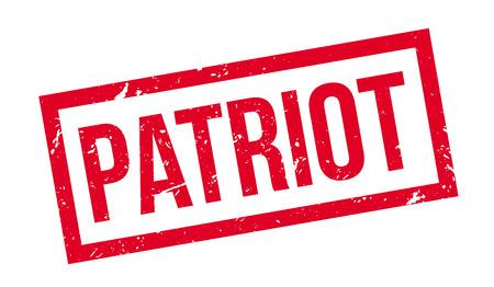 patriot: Patriot rubber stamp on white. Print, impress, overprint.