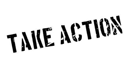 immediately: Take action rubber stamp on white. Print, impress, overprint.