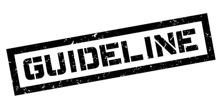 guideline: Guideline rubber stamp on white. Print, impress, overprint.