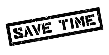 economize: Save time rubber stamp on white. Print, impress, overprint. Motivation to act fast, no time to waste. Deadline in mind, make decisions, time is of the essence. Quickly decide, move forward.