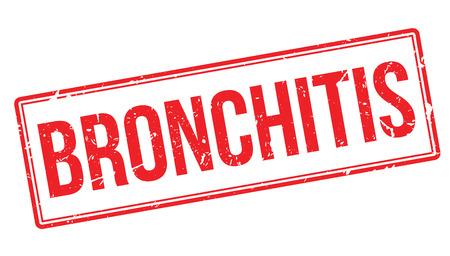 obstructive: Bronchitis rubber stamp on white. Print, impress, overprint.
