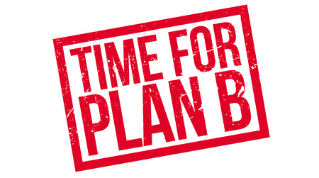 strategic plan: Time for plan B rubber stamp on white. Print, impress, overprint. Change of plan, rework, next target, strategic move, flexible approach, decision making. Operation procedure.