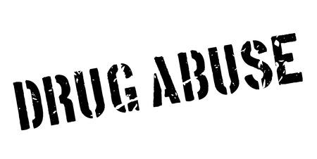Drug Abuse rubber stamp on white. Print, impress, overprint.