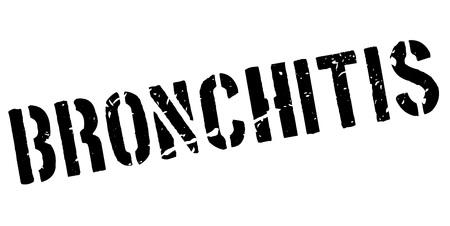 inflamed: Bronchitis rubber stamp on white. Print, impress, overprint.
