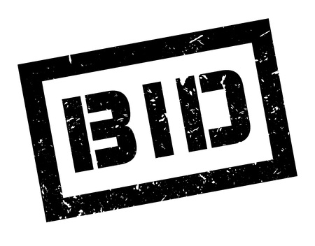 puja: Pujar sello de goma en blanco. Imprimir, impresionar, sobreimpresión. Signo de la oferta del mercado, oferta de la subasta, bajo petición. propuesta de negocio para su compra. etiqueta de subastas de antigüedades. Signo de la operación, un trato. Vectores