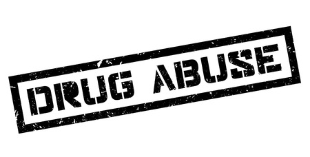 illegal act: Drug Abuse rubber stamp on white. Print, impress, overprint.