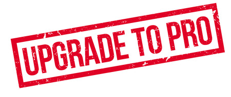 renew: Upgrade to pro rubber stamp on white. Print, impress, overprint. Motivation to go forward, to improve and get valuable features. Make changes, renew, find more opportunities.
