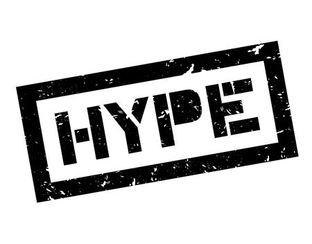 appeal: Hype rubber stamp on white. Print, impress, overprint. Illustration