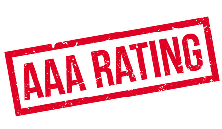 aaa: Aaa Rating rubber stamp on white. Print, impress, overprint.
