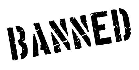dope: Banned rubber stamp on white. Print, impress, overprint. Illustration