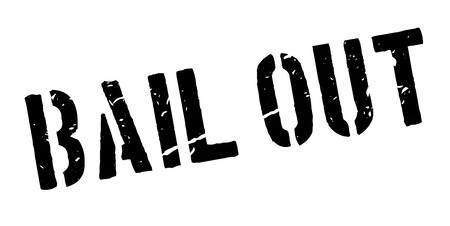 bailout: Bail Out rubber stamp on white. Print, impress, overprint.
