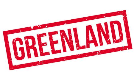 grungy header: Greenland rubber stamp on white. Print, impress, overprint.