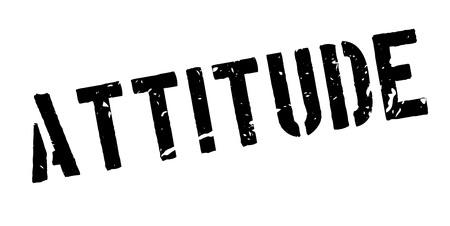 feeling good: Attitude rubber stamp on white. Print, impress, overprint. Illustration