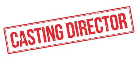 executive assistants: Casting Director rubber stamp on white. Print, impress, overprint.
