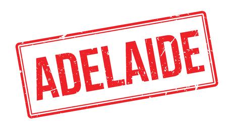 adelaide: Adelaide rubber stamp on white. Print, impress, overprint.