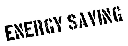 consumption: Energy Saving rubber stamp on white. Print, impress, overprint. Sign of electricity economizing equipment, low power consumption. Highly efficient product.