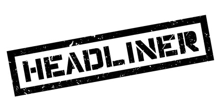 important event: Headliner rubber stamp on white. Print, impress, overprint. Symbol of mass media important news, event. Magazine or newspaper hot, breaking news, announcement. Illustration