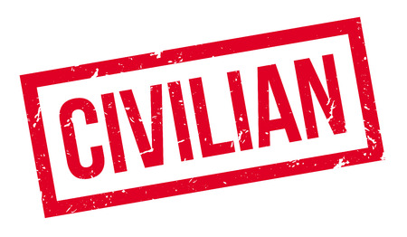 pacificist: Civilian rubber stamp on white. Print, impress, overprint.