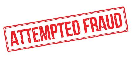 Attempted Fraud rubber stamp on white. Print, impress, overprint. Illustration