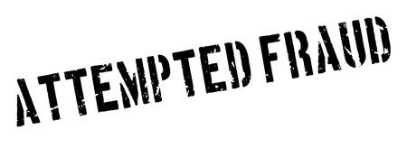 Tentative de tampon en caoutchouc à la fraude sur blanc. Imprimer, impressionner, overprint.