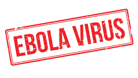 infectious disease: Ebola Virus rubber stamp on white. Print, impress, overprint.