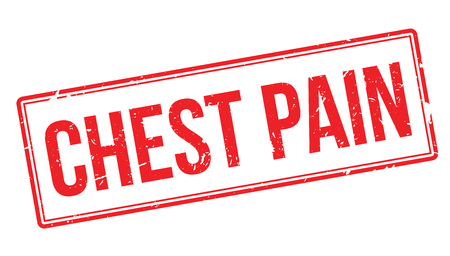 chest pain: Chest Pain rubber stamp on white. Print, impress, overprint.