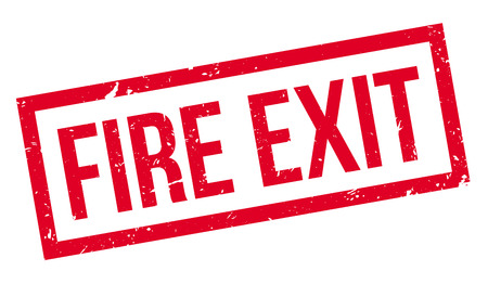 fire exit: Fire Exit rubber stamp on white. Print, impress, overprint.