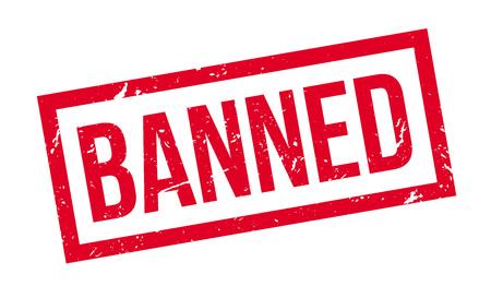 banned: Banned rubber stamp on white. Print, impress, overprint. Illustration