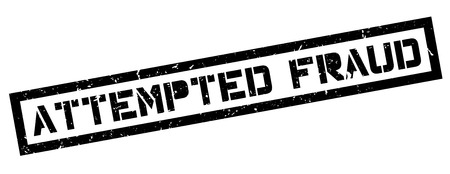 attempted: Attempted Fraud rubber stamp on white. Print, impress, overprint. Illustration