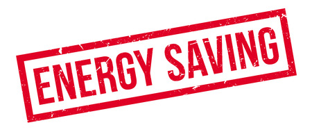 economizing: Energy Saving rubber stamp on white. Print, impress, overprint. Sign of electricity economizing equipment, low power consumption. Highly efficient product.