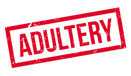 adultery: Adultery rubber stamp on white. Print, impress, overprint.