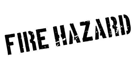 fire hazard: Fire Hazard rubber stamp on white. Print, impress, overprint. Illustration