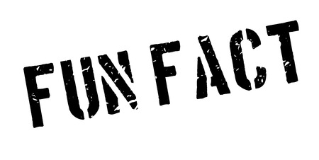 grungy header: Fun Fact rubber stamp on white. Print, impress, overprint.