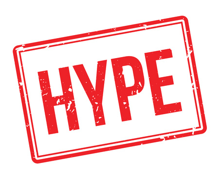 hype: Hype rubber stamp on white. Print, impress, overprint. Illustration