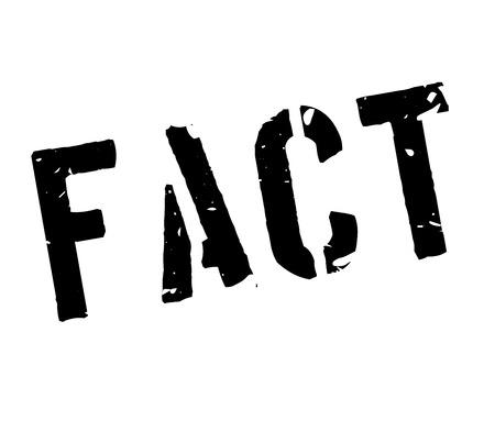 fact: Fact rubber stamp on white. Print, impress, overprint.